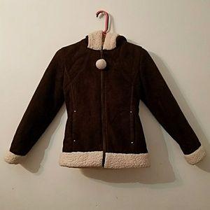 Jackets & Coats - Girls brown coat